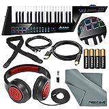 Alesis Vortex Wireless 2 USB/MIDI Keytar Controller with Samson Headphones, Strap, Cables, Batteries, and Microfiber Cloth