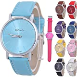 Yunanwa 10pcs Luxury Watches Men Fashion Casual Sports Leather Watch Men's Military Women Wristwatch