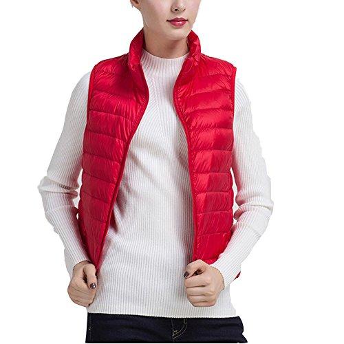 スリップシューズモンスター空白Linyuan ファッション Women's Simple Packable Down Vest ベストダウン Stand Collar Zip Up Front Winter Vest