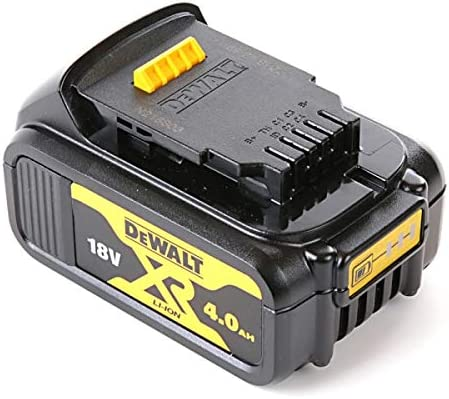 Bateria de Iones de Litio DeWALT XR de gran duración y potencia optimizada. Dewalt DCB182-XJ Batería carril XR 18V Li-Ion 4, Negro y amarillo