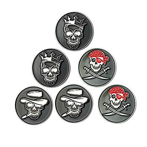 GOLTERS Skull Golf Ball Marker (Mix Skull 6) ()
