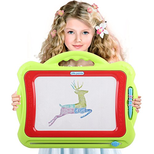 Magnetic Drawing Board For Kids | 4 Color Zone Erasable Magna Doodle Pad For Educational Sketching | For Boys and Girls 3 Years and Up | (Educational Pad)