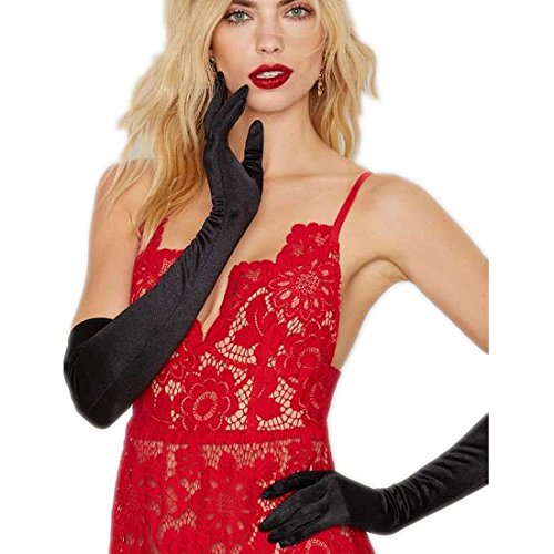 Nightycatty Roaring 20s Opera Length Gloves Long Gloves for Costume,Prom,Wedding Black (The Roaring 20s Fashion)