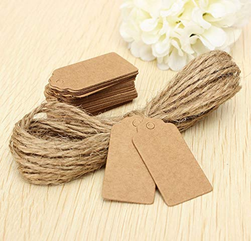 Garment Tags - Sell 100x Brown Kraft Paper Tags Lace Scallop Head Label Luggage Wedding Note String S - For Personalized Unstrung In Sew Clothes String With