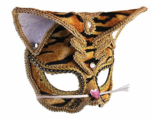 Forum Novelties Masquerade Half Mask (Cat Tiger)