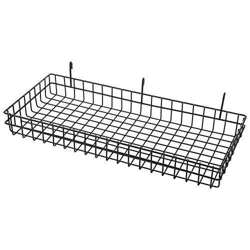 Iris Ohyama Mesh Panel Basket Large MPA–Bl Black ()
