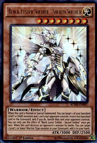 Yu-Gi-Oh! - Black Luster Soldier - Sacred Soldier (BOSH-EN097) - Breakers of Shadow - 1st Edition - Ultra Rare