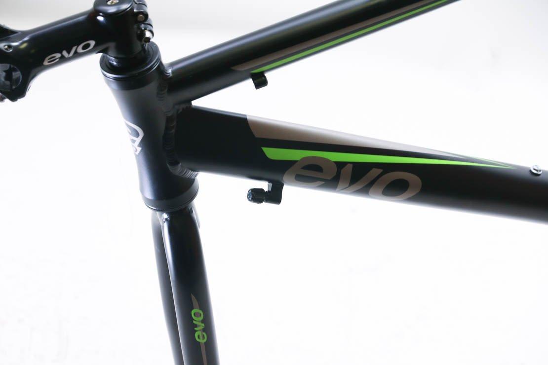 EVO Vantage 5.0 52cm Medium Aluminum Road Bike Frameset Fork + Extras Black New