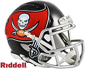 amazon com tampa bay bucs riddell speed mini football helmet new in box sports collectibles tampa bay bucs riddell speed mini football helmet new in box