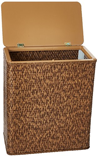 Lamont Home Carter Upright Hamper, Cappuccino (Hampers Laundry Rattan)