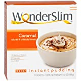WonderSlim Low-Carb High Protein Instant Diet Pudding Mix - Caramel (7 Servings/Box) - Low Carb, Low Calorie, Low Fat, Aspartame Free, Gluten Free
