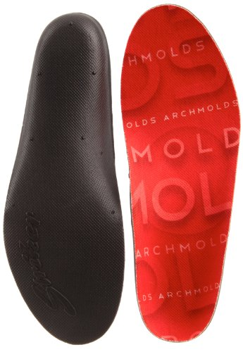 Archmolds Multisport Insole,Red,J  Men  12 - 12 .5