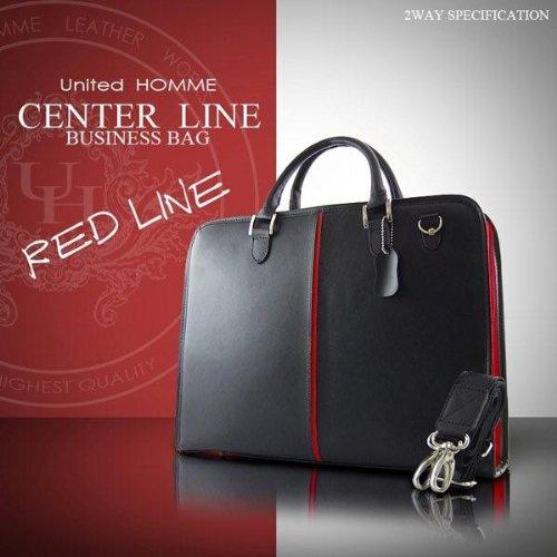 ユナイテッドオム United HOMME ビジネスバッグ ブラック×レッド センターライン UH-924-RED B009A4B100