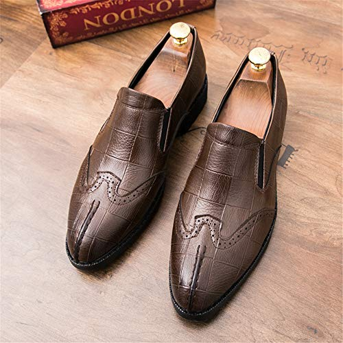 Soft Casual Marrone da British Toe Business Scarpe Men's Fashion Brogue Set Oxford Scarpe Traspirante Piede Cricket nHxwBEqXT