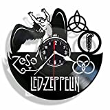LED ZEPPELIN vinyl Wall Clock-unique home decor that will suit to any interior - handmade gift for birthday anniversary or any other occasion