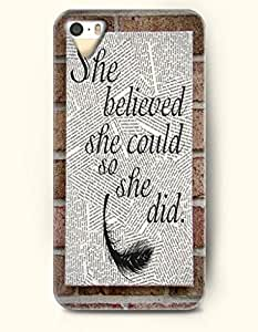 OOFIT Phone Skin Apple iPhone case for iPhone 5 5s ( 5C EXCLUDED ) -- She Believed She Could So She Did