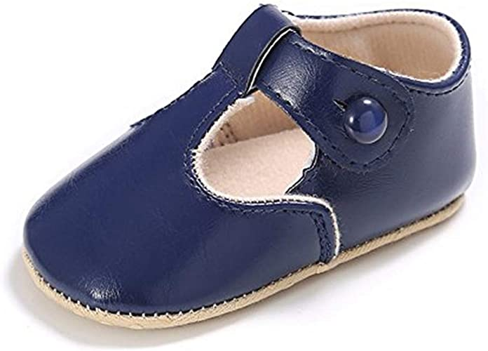 Baby Girl Mary Jane Flats Princess Infant Soft Sole Crib Shoes 0-18Months