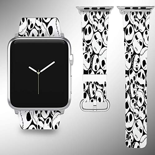 Wrist band strap compatible with Apple Watch iWatch all series adapters 38mm 40 mm 42mm 44mm series 1 2 3 4 Leather Fabric -