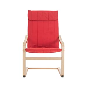 Durian Armchair (Matte Finish, Candy Apple Red)
