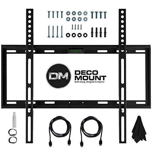 Deco Mount Flat Wall Mount Kit Ultimate Bundle for 45-90 inch TVs ()