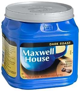 Maxwell House Dark Roast Ground Coffee, 33-Ounce Plastic Jugs (Pack of 2)