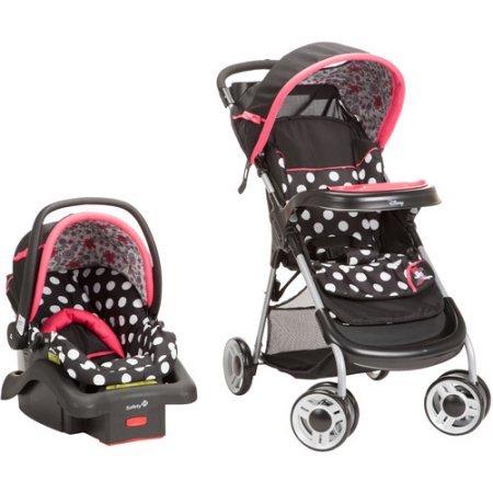 Disney Baby Lift & Stroll Plus Travel System, Minnie Coral Flowers