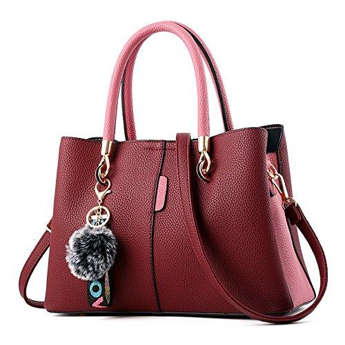 Moda Purple Quadrata Cosmetici Flht A Tracolla Borsa Messenger Da Per In Donna Pelle pf8wpxTq7