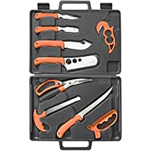 RUKO RUK0131 Wild for Game 11 Piece Fish and Game Processing Set, High Visibility Orange