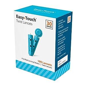EasyTouch Twist Lancets - 30 G, - (100 per box)