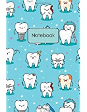 Notebook: Cute Cartoon Teeth Pattern Blank Lined Journal To Write In For Notes, Ideas, Diary, To-Do Lists, Notepad - Dental Gifts For Dentists, Female Dentists, Dental Students, Dental Assistants, Dental Hygienists - Best Gifts For Women, Teens, And Kids