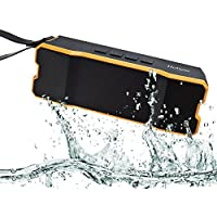 Holiper Portable Waterproof Bluetooth Speaker for Tablet, iPhone, MP3, MAC, Laptop, IPX65, TF Card Slot, Long Play Time, the Best Speaker for Outside Small Party, Orange