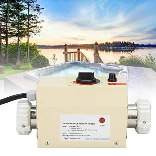 Zouminyy Calentador Piscina, Calentador SPA, 3KW 220V Mini Termostato De Calentador De Agua Para Piscina BanEra De Hidromasaje Spa Bath con Manual de Instrucciones(EU Plug)
