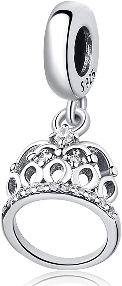 Sam Panda Women S Charm Bead 925 Sterling Silver Pendant Crown Charms Fit Pandora Bracelets Diy With Jewellery Box Gift For Mom Amazon Co Uk Jewellery
