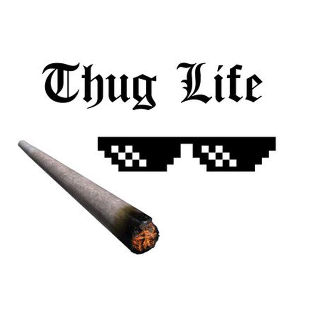 Letter Thug Life Glasses 8 bit Pixel Deal avec lunettes de soleil IT Unisex Sunglasses Toy Ry1gTX