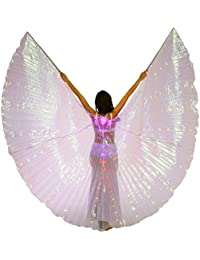 Belly Dance LED Angel ISIS Wings With Flexible Sticks
