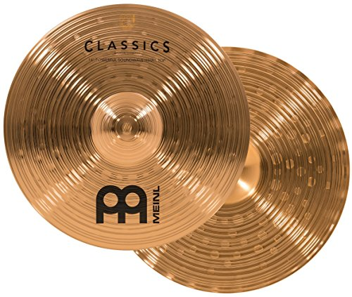 Meinl Cymbals C14PSW Classics 14-Inch Traditional Powerful Soundwave Hi-Hat Cymbal Pair (Meinl Hi Hat Cymbals)