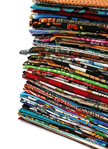 Quilter's Cotton Fabric Scraps - Sold by The 3 lbs - Scrap Bag Bolt End Pieces Remnants Assorted Quality Cotton Novelty Fabrics for Sewing Scrappy Quilting Stash, Scrap Quilts, I Spy Quilts, Applique