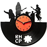 Red Hot Chili Peppers Clocks for Kitchen – Wall Clocks Unique – Vinyl Record Wall Decor – Wall Décor – Vinyl Wall Clocks Red Hot Chili Peppers – Vinyl Record Decor – RHCP For Sale