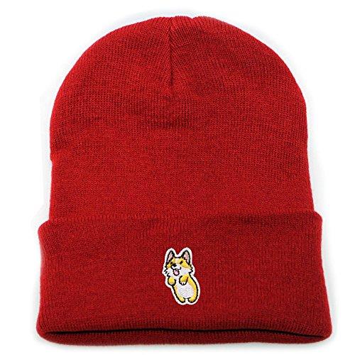 City Hunter Sk901 Cute Welsi Corgi Basic Winter Beanie Hats 15 Colors ()