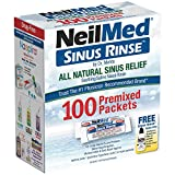 NeilMed Sinus Rinse All Natural Relief Premixed Refill Packets 100 Each, Pack of 3