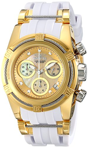 Invicta Women's 16112 Bolt Analog Display Swiss Parts Quartz White Watch