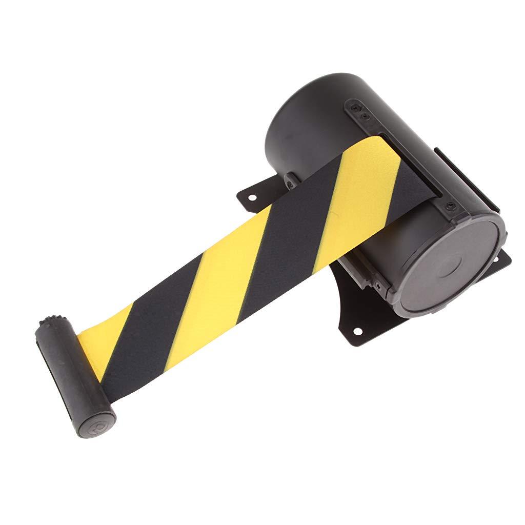 Negro y amarillo 5m Cinta de Retr/áctil Cintur/ón de Seguro para Montaje en Pared Negro y Amarillo