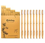 Bamboo Toothbrush - Gentle Soft, 8 Pack - Natural, Biodegradable, Eco-Friendly Toothbrush by MitButy