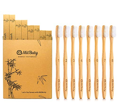 Bamboo Toothbrush Natural Biodegradable Eco Friendly