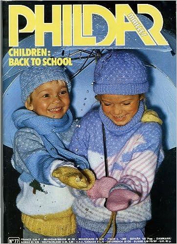 Phildar Mailles Children Back To School Book No 77 Knitting