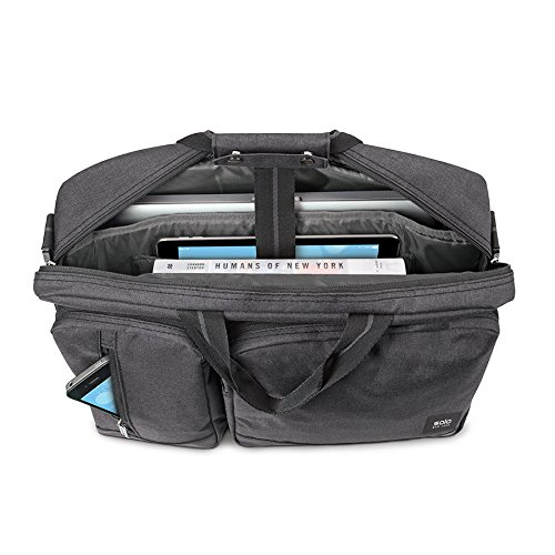 Solo Duane 15.6 Inch Laptop Hybrid Briefcase, Converts to Backpack, Grey by SOLO (Image #5)