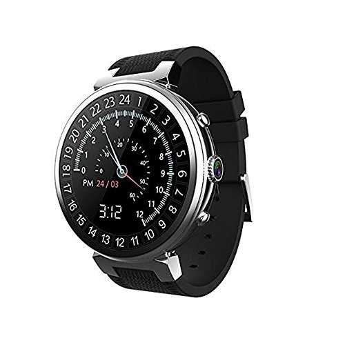 3G WIFI I6 Smart Watch Android 5.1 MTK6580 Quad Core RAM 2GB ROM 16GB Smartwatch Support GPS Google play camera for Android IOS (Silver)
