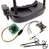 USAQ Racing Drone FPV Kit with EV100 5.8G Goggles, 25/200/600mW 5.8G Transmitter, 700TVL Camera, 4dBi Circular Polarized Antenna Set