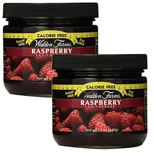 Walden Farms Calorie Free Fat Free Gluten Free Sugar Free Fruit Spreads (Raspberry, 2 jars) (Farms Fruit Walden Kosher)