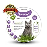 Protecto's cat flea collar tick collar for cats 100% safe hypoallergenic kills flea